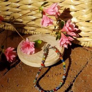 Multi color beaded bracelet